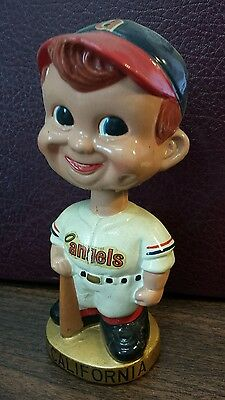 RARE Vintage CALIFORNIA ANGELS Bobble Head Nodder
