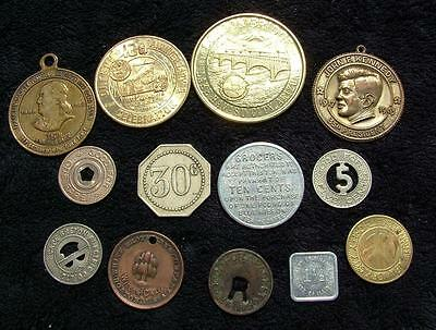 Collection Job Lot Of Vintage American Transport Casino & Other Tokens - Lot 147