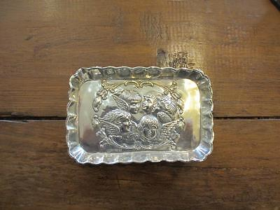 Sterling Silver Pin Dish Hallmarked Birmingham 1906 Antique.JCL01151