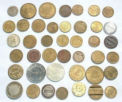 Collection Job Lot Of Vintage Fruit Machine / Gaming Tokens - Lot 149