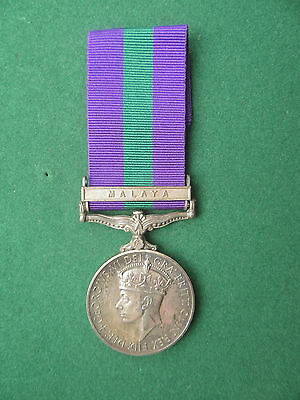 General Service Medal (GV1) with Malaya Clasp
