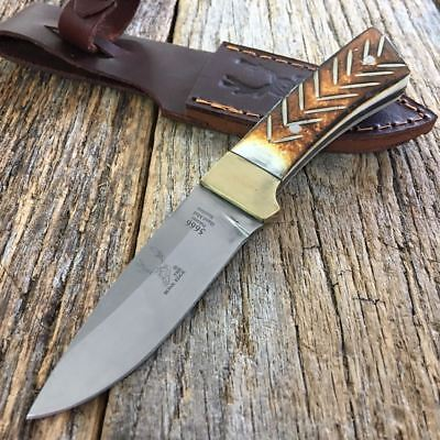 "6"" Bone Handle Fixed Blade Camping Hunting Bowie Skinner Knife Fishing"
