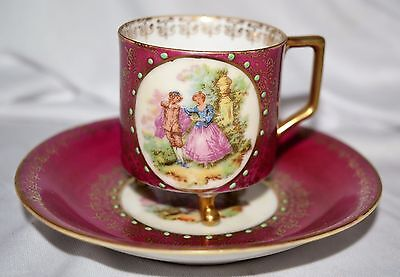 Vintage ANDRE Occupied Japan 3 foot Demitasse Cup and Saucer