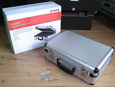 New Unused & Boxed Chord MFC330 Microphone Flight Case Music Gear Rock Band