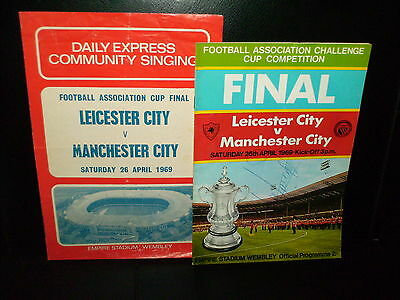 1969 FA CUP FINAL  MANCHESTER  CITY (signed by NEIL YOUNG) V LEICESTER CITY