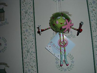 """Glitterville Christmas 5"""" Small Awreatha Ornament-New-Gift Boxed"""