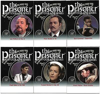 The PRISONER AUTO SERIES,  6 Unsigned Trading Cards Lot includes Unreleased PA10