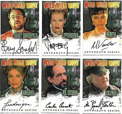 Wild Wild West The Movie 10 x AUTOGRAPH LOT by Fleer/Skybox 1999