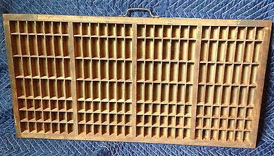196 section Antique Drawer Printers Tray letterpress typeset wood shadow box