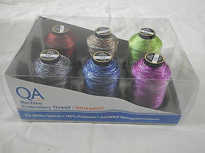 Machine Embroidery QA Thread - Variegated Colours 6 x 1000 mts