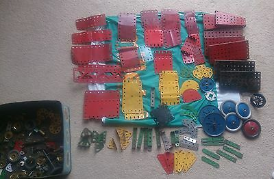 Box of Assorted Vintage 1960s Meccano Pieces