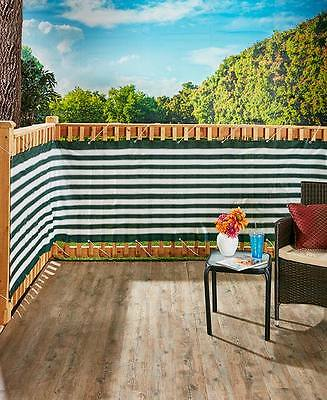 15 Ft. Waterproof Brown Or Green Deck & Fence Privacy Netting Screen