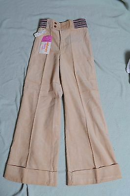 VTG NOS '70s tan Corduroy Little lady Wrangler bell bottom high waist pants 12