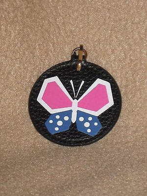 New Estee Lauder Butterfly Leather Key Chain Fob Purse Bag Charm Gift Limited