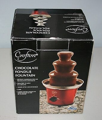 Crofton Chocolate Fondue Fountain Red- Never used still wrapped in the box