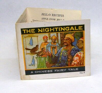 Vintage Jell-O insert: Nightingale, Chinese Fairy Tale No. 6 and recipes