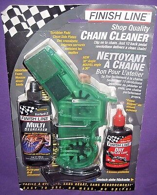 Finish Line Shop Quality Chain Cleaner Kit NEW IN PACKAGE Degreaser Lube Tool