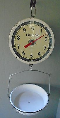 Vintage 1952 Patent Toledo Hanging Vegetable Scale Model 2110  -Double Sided