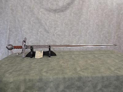 """ACERO - SIR FRANCIS DRAKE SWORD - 44"""" OA - 37"""" BLADE - NEW IN BOX...Reduced.!!!"""