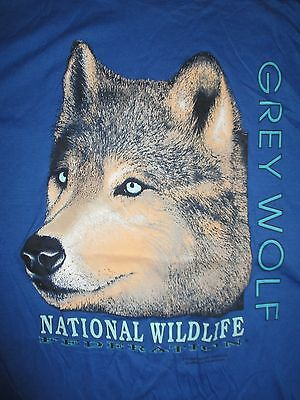 Vintage Sun Sportswear GREY WOLF National Wildlife Federation (XL) T-Shirt