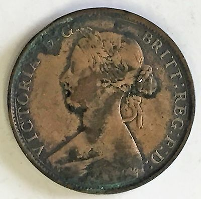 C3395    Great Britain   Coin,    Large Half  Penny    1862