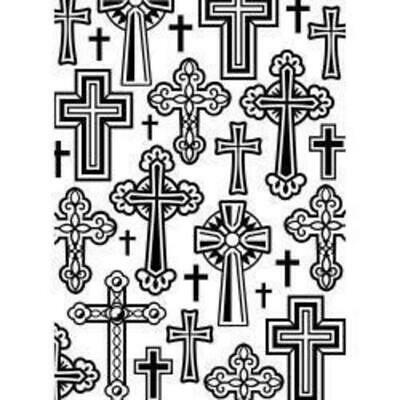 DARICE Embossing Folder Crosses 10.5cm x 14.5cm