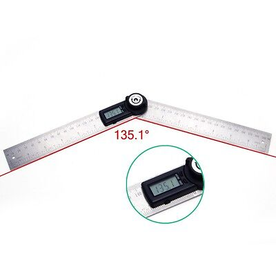 2 In 1 Digital Angle Ruler Protractor 360° 200mm Electronic Meter Ruler