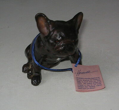 Vintage French Bulldog Sitting Figurine Limited Edition Hevener