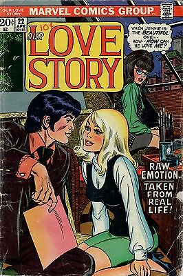 Our Love Story.  Low Grade G Condition. #22   Marvel  Romance  Comic