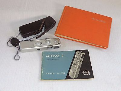 Minox Model B Subminiature Camera With Case Chain And Manual