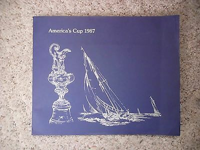 1987 America's Cup Souvenir Folder- Autographed FDC, Stamps and Poster