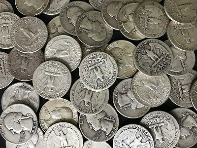 (1) 90% SILVER Washington Quarter from Old Estate Hoard 1932-1964 / Old US Coins
