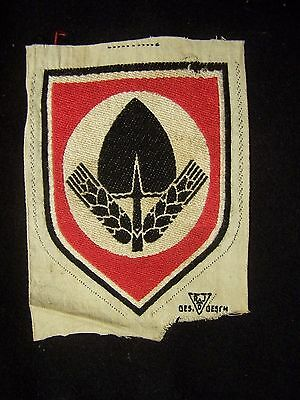Original Vintage  3 X 5 Inch Wwii  German Rad Shorts Patch