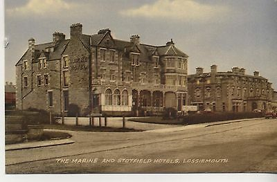 Postcard. Marine and Stotfield Hotels, Lossiemouth