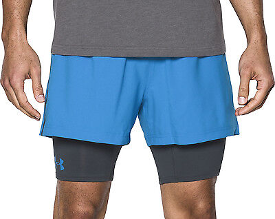 Under Armour Mirage 2 in 1 Mens Running Shorts - Blue