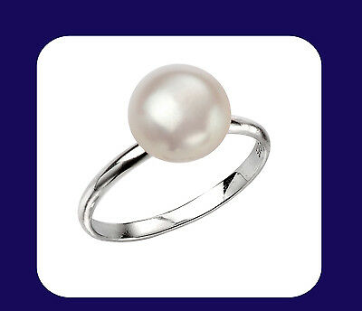 Pearl Ring Sterling Silver Pearl Ring Freshwater Pearl Ring Ladies Pearl Ring
