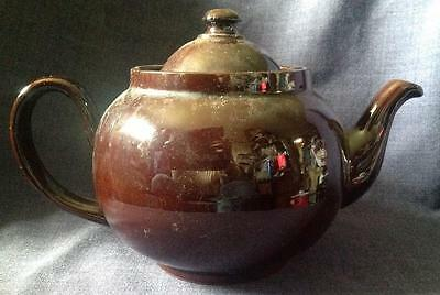 Vintage retro  Brown Betty Teapot Earthenware kitchenalia