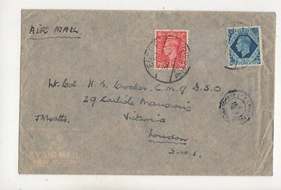 Egypt 57 Postmark 1942 WW1 Cover to Lt Col HE Crocker DSO from JN Watts 456b