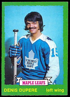 1973 74 Opc O Pee Chee #210 Denis Dupere Nm Toronto Maple Leafs Hockey Card