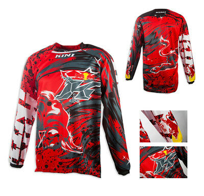 Kini Red Bull Revolution Jersey rot grau Enduro Motocross Quad MX Shirt