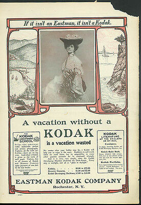 A vacation without a Kodak is a vacation wasted ad 1903