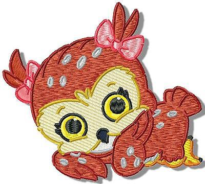 Olivia The Owl 10  Machine Embroidery Designs Cd 2 Sizes