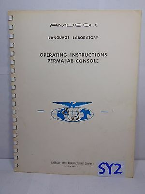 Vintage Amdesk Language Laboratory Book Permalab Console Operating American Desk