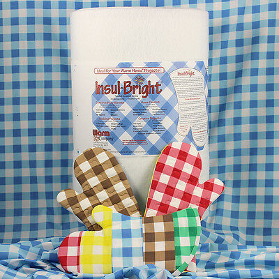 """InsulBright Insulated Wadding 22"""" (55cm) x 1m Oven Gloves Reflective"""