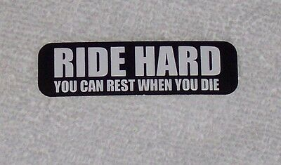 Ride Hard Rest When You Die Motorcycle Helmet Sticker Biker Helmet Decal