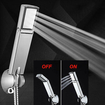 NEW High-Pressure Bath Water-Saving Super Booster Hand Shower with ON/OFF Switch
