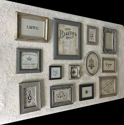 Vintage Style Photo Picture Frame Set French Shabby Chic Gallery Wall Frames