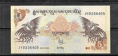 BHUTAN #28a 2006 5 NGUTRUM NEW UNUSED BANKNOTE BILL CURRENCY PAPER MONEY NOTE