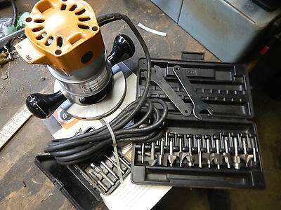 Vintage Black And Decker 7616 Deluxe Router With Router Bits Woodworking