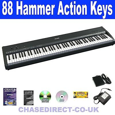 Chase P-47 Digital Piano Hammer Action Portable Keyboard Weighted Keys 88 Notes
